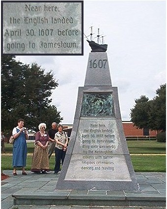 Jamestown Landing Monument