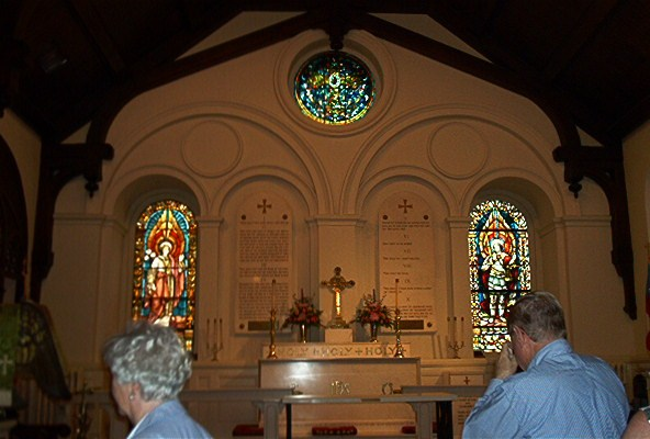 Inside St. John's Episcopal Church