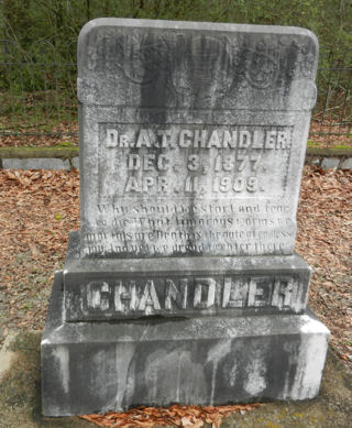 photograph of grave marker for Alvia Thurman Chandler