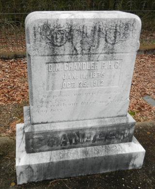 photograph of grave marker for Garnett McMillian Chandler