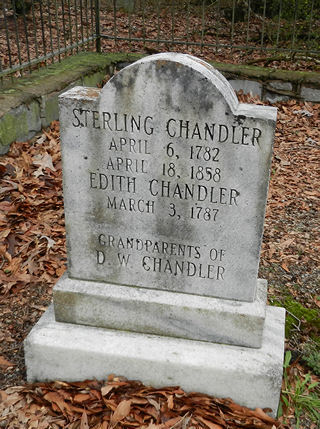 photograph of grave marker for Sterling Chandler