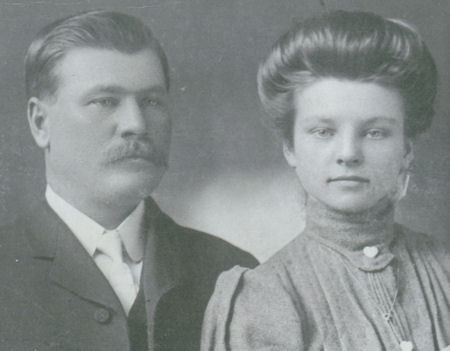 portrait of Howell Francis Chandler and wife Nancy