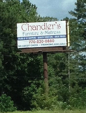 Chandler Furniture U0026 Mattress Sign
