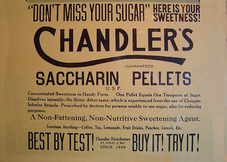 Chandler's Saccharin Pellets