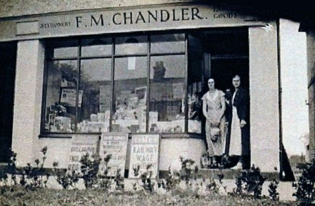 photo of F. M. Chandler stationery shop in England