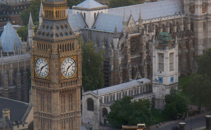 photo of St. Margaret's Church from London Eye